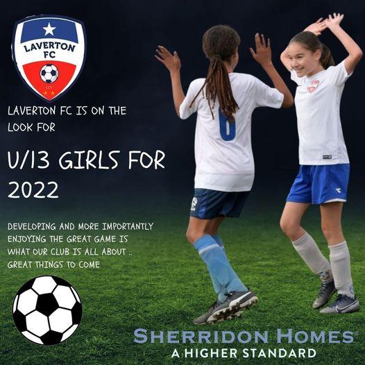 Seeking U/13 Girls for 2022